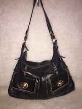 """""""THE SAK""""Black Leather  Hobo Shoulder Bag Purse"""