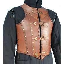Brown Steampunk Soldier Leather Armour, Medieval, Cosplay, LARP