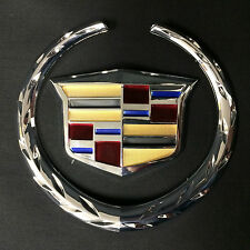 """New Cadillac Emblem Badge/2 piece/ 5.75*6.25""""/ w/Color Fast NEW Wreath and Crest"""