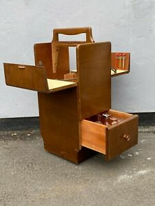 Vintage 1930's Mahogany Mobile Cocktail / Picnic Cabinet