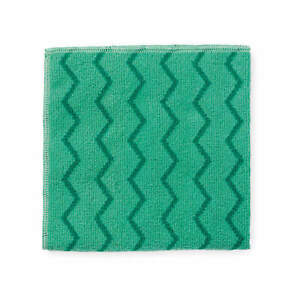 """RUBBERMAID COMMERCIAL PRODUCTS FGQ62000GR00 Microfiber Cloth,16"""" x 16"""",Green,PK1"""