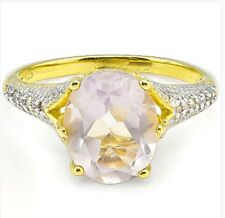 SALE Women's Pink Amethyst and diamond ring