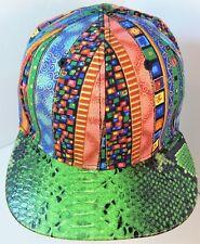 SubCrew Hip Hop Urban Streetwear Faux Snakeskin Flat Bill Snapback Hat NEW