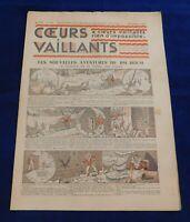 CŒURS VAILLANTS n°40 de 1934 - Très bon état. TINTIN EN ROUTE VERS L'ORIENT