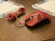 Used Finalmouse Air58 Ninja Gaming Mouse - Cherry Blossom Red