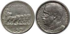 ITALIE 50 CENTESIMI 1919 R KM#61.2 EDGE REEDED