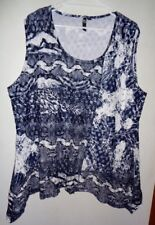 """""""TS"""" Patterned Stretch Sleeveless Top. Size XL"""