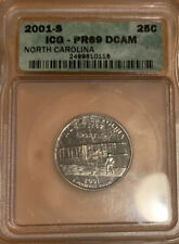 2001 S ICG PF69 DCAM North Carolina State Quarter