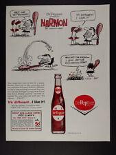 1963 Dr Pepper Johnny Hart Harmon Cartoon vintage print Ad