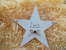 Shabby Chic Style Personalised Name Star Keepsake Plaque Gift Any Colour