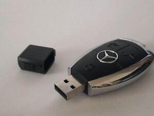 Mercedes Benz USB Stick 32 GB Schlüssel Design schwarz/chrom Geschenk-Idee