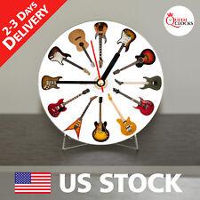 NEW Guitars CD Clock Fender Electric epiphone body ibanez string amp vintage 6 w