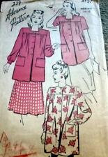 LOVELY VTG 1940s SMOCK ADVANCE Sewing Pattern MEDIUM