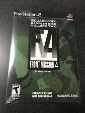 Front Mission 4  (Demo Disc) (Sony PlayStation 2) PS2 Video Game sealed