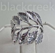 925 Sterling Silver ~ Branch/ Leaves~  Ring ~ Antiqued ~  Size 8.75