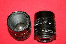 Fuji Photo Optical - Lot of (2) Lenses - Fujinon TV - 1:1.4/25