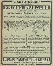 Z8317 L'Auto-Décor - FRISES MURALES - Pubblicità d'epoca - 1914 Old advertising