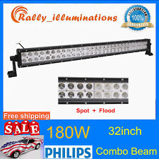 PHILIPS 32Inch 180W LED Light Bar Off road Driving Fog Light Combo SUV 4WD Lamp