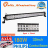 PHILIPS 32Inch 180W LED Light Bar Off road Driving Fog Combo SUV Lamp Slim VS 34