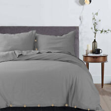 Egyptian Luxury Ultra Soft Duvet Cover Set for Comforter w/ Button Closure & Tie