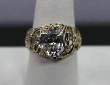 Large Sterling Silver & CZ Ring Size 10.5