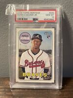 2018 Topps Heritage #580 Ronald Acuna Jr. Braves RC Rookie PSA 10 GEM MINT