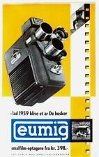Original vintage poster EUMIG ELECTRIC FILM CAMERA 1959