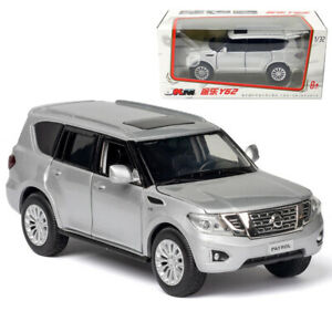 Nissan Patrol Y62 1:32 Model Car Diecast Toy Vehicle Collection Kids Gift Silver