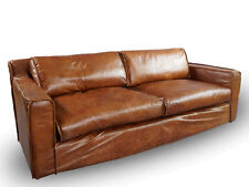 Vintage Echtleder Sofa Redhill Ledersofa 2,5-Sitzer Clubsofa Montaigne Brown
