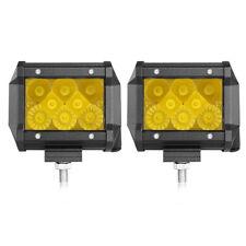 "2X 4"" Amber LED Work Light Bar Spot Flood Pods Driving Fog Lamp Offroad Truck US"