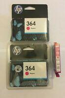 Genuine HP 364 Magenta Ink Cartridge CB319EE Original