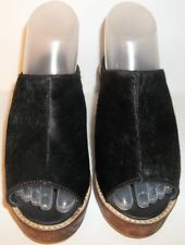 ECOTE PONY HAIR MULES URBAN OUTFITTERS BLACK WOMENS 8 NEW WITHOUT BOX MSRP $90