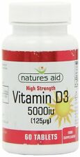 Naturen Beihilfe Vitamin D3 5000iu (125ug) super stark 60 Tabletten