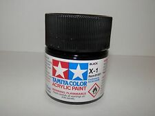 Tamiya Color Acrylic Paint Black #X-1 (23 ml) NEW