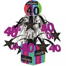 Milestone Celebration 40th Birthday Mini Cascade Centerpiece Party Decoration