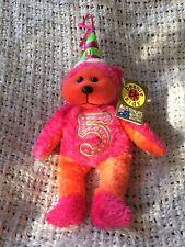 Skansen Beanie Kids 'Celebrate the 5th Birthday Bear' Limited Edition Rare Retir