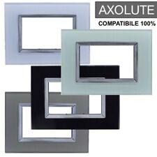 PLACCA COMPATIBILE BTICINO AXOLUTE 3 4 6 MODULI POSTI