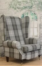Sunggle  Fireside Chair EXTRA WIDE & EXTRA TALL - Balmoral Oxford Blue Dark Legs