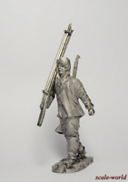 Tin soldier, figure. The red army soldier, the parade of 7 November 1941. 54 mm
