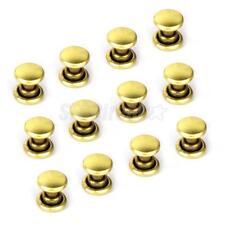 50x Gold Metal Rivet Fastener Stud Buttons for Leather Bag Jeans Craft 6mm