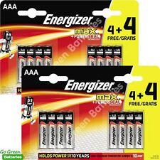 16 x Energizer AAA MAX Alkaline Powerseal Batteries - LR03 MX2400 MN2400 MICRO