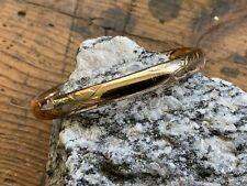 Antique Vintage Gold Filled Child's Bangle Bracelet Etched Design-Place For Name