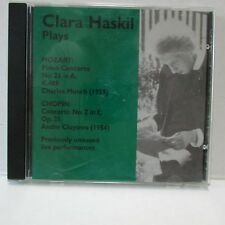 Clara Haskil Plays Mozart Chopin Previously Unissued Concert Performances CD