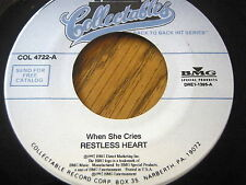 RESTLESS HEART - WHEN SHE CRIES / YOU CAN DEPEND ON ME