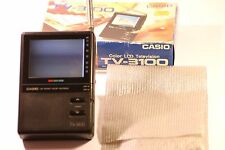 "Very Rare Casio TV-3100 Handheld Colour TV 3.3"" LCD"