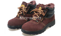Thermal Men's Leather Safety Shoes Steel Toe Work Boots AntiPuncture Ankle Boots