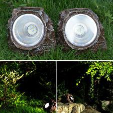Solar Simulation Stone Lamp Outdoor Waterproof Garden Landscape Light Lawn Patio