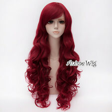 BATMAN Poison Ivy 80 CM Long Red Curly Hair Women Halloween Party Cosplay Wig
