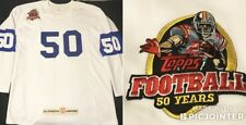Vintage Topps Football 50 Anniversary Nfl Promo Jersey 2Xl Cards White Ovo Ness