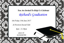 10 Personalised  Male Graduation Party Invitations